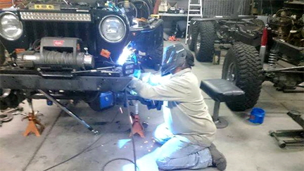 Jeep Welding Suspension.