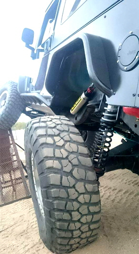 Jeep Suspension and tube fenders.