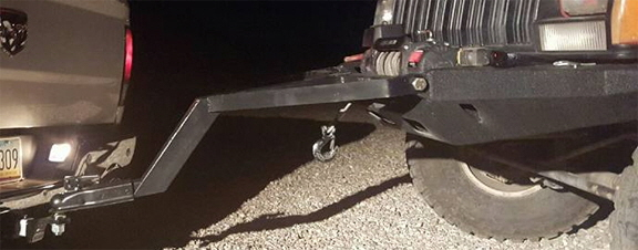 Jeep Tow Bar on hitch.