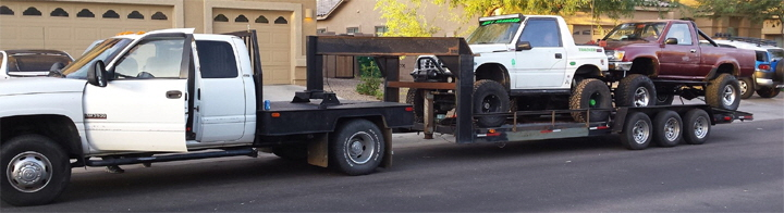 Custom Rock Crawler Hauler Trailer for Two Buggies. ATV UTV