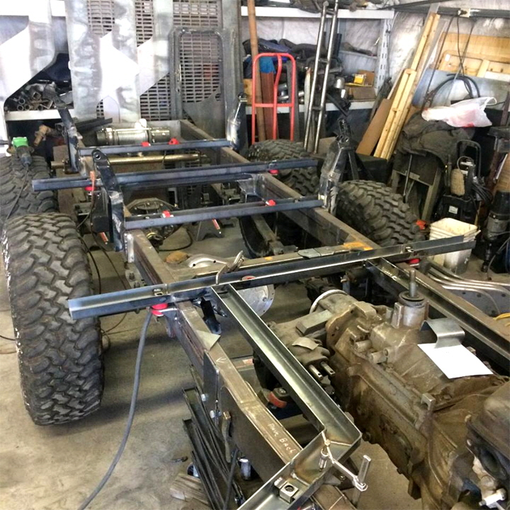 6x6 Jeep Chassis Custom Fabrication.