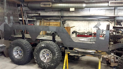 6x6 Jeep Custom Steel Body Sides.