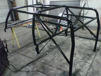 Custom Jeep Fitted Roll Cage.