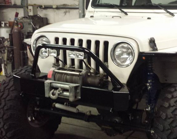 Custom Jeep Bumper and Stinger.
