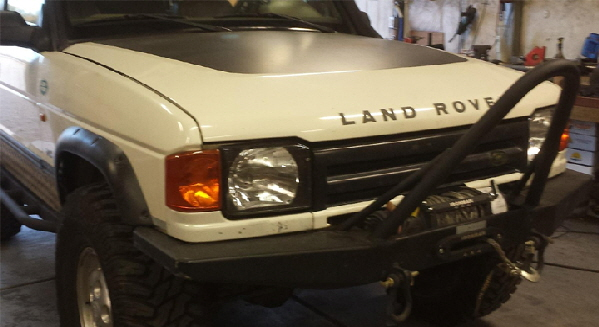 Custom Land Rover Discovery Stinger and Bumper.