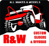 Custom Rock Sliders, Jeep Armor, Stingers, Bumpers, Roll Bars, and Chassis.